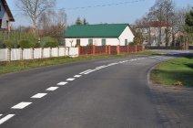 Oznakowanie poziome Drogi Powiatowej Mędrzechów - Dąbrowa Tarnowska